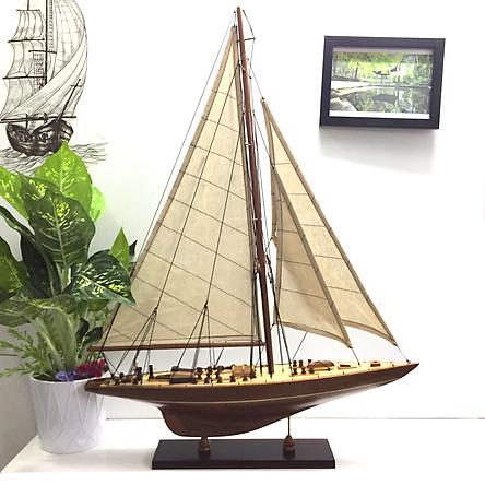 Mô hình du thuyền đua gỗ J Endeavour (thân 50cm - gỗ tự nhiên)
