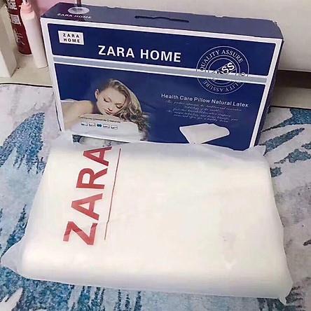 Gối cao su non chống ngáy Zara Home cao cấp MAX STAR2020 - HÀNG CHÍNH HÃNG - 100% cao su nguyên chất - Mềm mại - Đàn hồi cao không xẹp  - hết ngủ ngáy, Giúp ngủ ngon hơn
