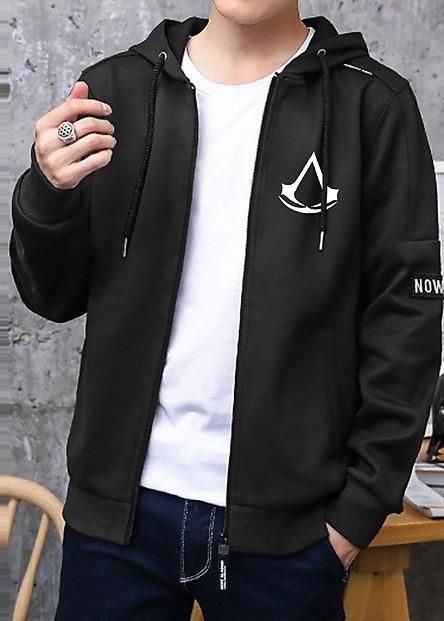 Combo Áo khoác Hoodie, găng tay Assassins Creed