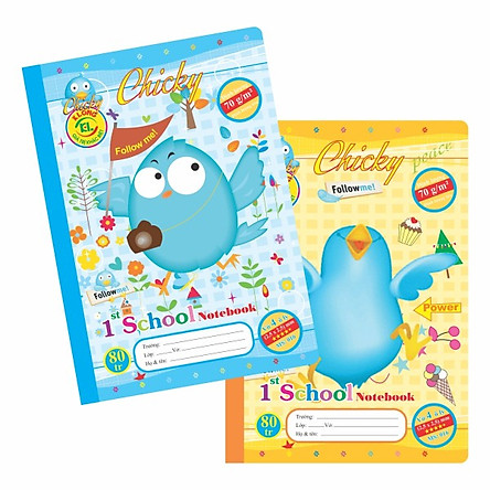 Combo 10 quyển Vở 4 ô ly Chicky TP016 - 80 trang