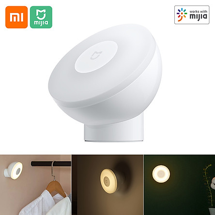 Xiaomi Mijia Night Light 2 BT Version Magnetic Attraction Night Lamp 360 Rotating Adjustable Infrared Body Sensor Work