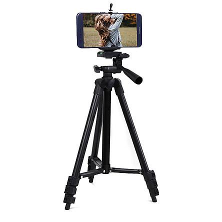 Chân giá đỡ điện thoại chụp ảnh camera gậy tripod 3 chân kèm kẹp giá tốt AURU312  Hàng Chính Hãng