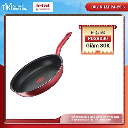 Chảo chiên chống dính đáy từ Tefal 28cm So Chef G1350695 - Dùng mọi loại bếp - Chấm đỏ báo nhiệt thông minh - Hàng chính hãng