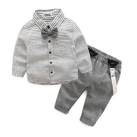baby boy child pants suit  gentleman suit style Short sleeve shirt + short suspenders LL4