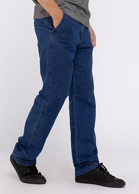 Quần Jeans Nam A91 JEANS Ống Suông 013 MSTBS013ME (Xanh Denim)