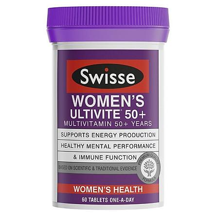 Swisse Women's Ultivite 50+ Multivitamin 60 Tablets