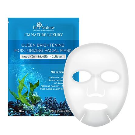 Mặt nạ dưỡng da Queen Brightening Moisturizing Facial Mask I'M NATURE 120ml (6miếng/hộp)