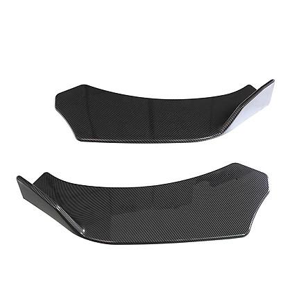 Black Universal 3Pieces Car Front Lip Chin Bumper Body Kits For Honda For Civic balck CN