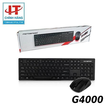 Bộ bàn phím và chuột Không Dây Motospeed G4000 - Hàng Chính Hãng