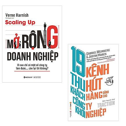 Bộ 2 cuốn sách dành cho công ty khởi nghiệp: Scaling Up Mở Rộng Doanh Nghiệp - 19 Kênh Thu Hút Khách Hàng Dành Cho Công Ty Khởi Nghiệp