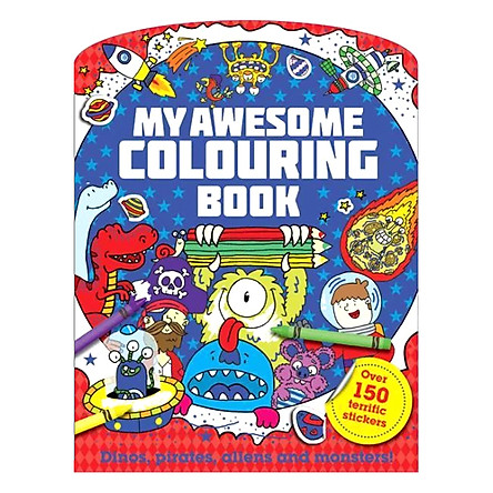 Sách tô màu My Awesome Colouring Book