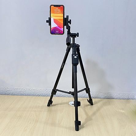 Chân đế tripod dùng cho điện thoại và máy ảnh Selfiecom TTX-6218 -  Có Remote chụp ảnh và túi đựng tiện lợi - Hàng chính hãng