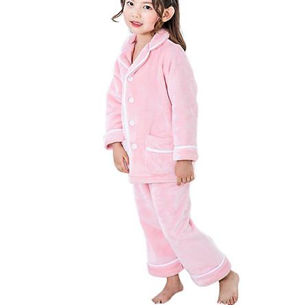 Winter Super Warm Pajamas Underwear For Kids Boys Girls Flannel Home Sleepwear Pajamas For Kids Children 2 Pcs/Set