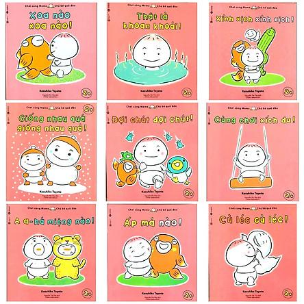 Ehon Nhật Bản nuôi dưỡng tâm hồn: Momo Chú Bé Quả Đào Chơi cùng Momo phát triển kỹ năng vận động và cảm xúc (Bộ 9Q - Phần 3) Tặng kèm poster An Toàn Cho Con Yêu Quy Tắc An Toàn 5 Ngón Tay
