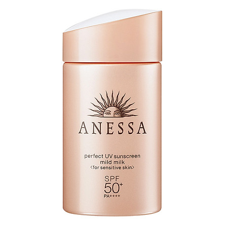 Kem Chống Nắng Anessa Perfect UV Sunscreen Mild Milk For Sensitive Skin Spf 50+ Pa++++ (60ml)