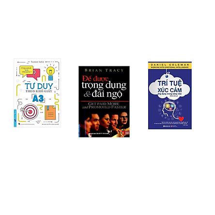 Combo 3 cuốn sách: Tư Duy Theo Khổ Giấy A3 + Để Được Trọng Dụng & Đãi Ngộ + Trí Tuệ Xúc Cảm Ứng Dụng Trong Công Việc