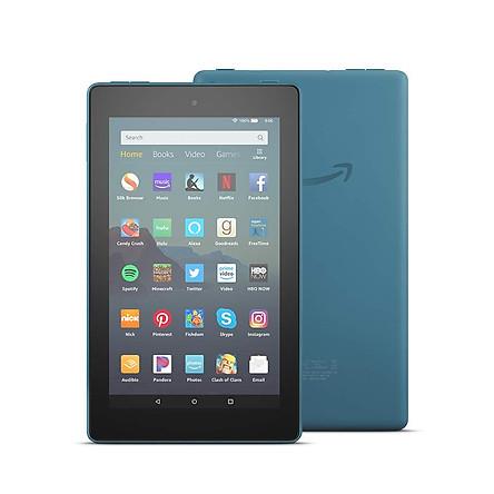 Máy Tính Bảng Kindle Fire 7 (9th) 16GB ( 2019)  Blue- Hàng nhập Khẩu