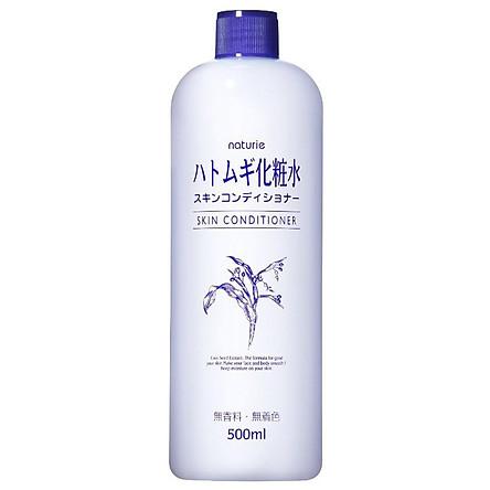 Nước Hoa Hồng Naturie Hatomugi 500ml chiết xuất từ ý dĩ cho da gặp vấn đề lỗ chân lông, mụn