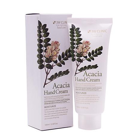 Kem dưỡng da tay tinh chất thảo mộc hương tự nhiên 3w Clinic Acacia Hand Cream (100ml) – Hàng chính hãng