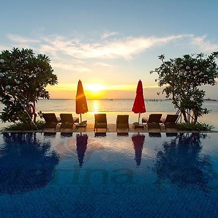 Marina Bay Vũng Tàu Resort & Spa 5* - Sát Biển, Phòng Deluxe Hướng Biển, Hồ Bơi Vô Cực Đẹp Xuất Sắc