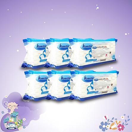 Combo thùng 6 gói Khăn ướt cồn kháng khuẩn cao cấp iHomeda ( 80 Miếng/ Gói) - Combo 6 of iHomeda premium anti-bacteria alcohol wipes ( 80 sheets per packpage)
