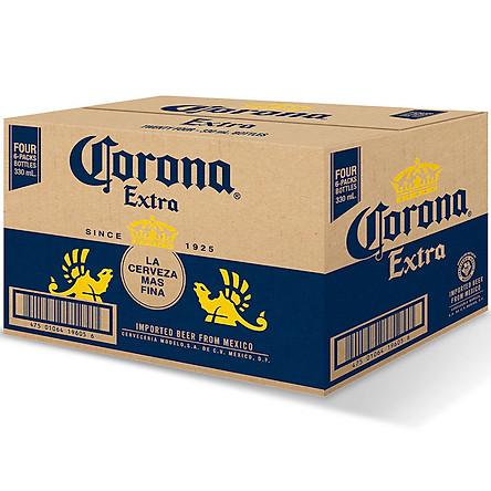 Thùng 24 Chai Bia Corona Extra (355ml / Chai)
