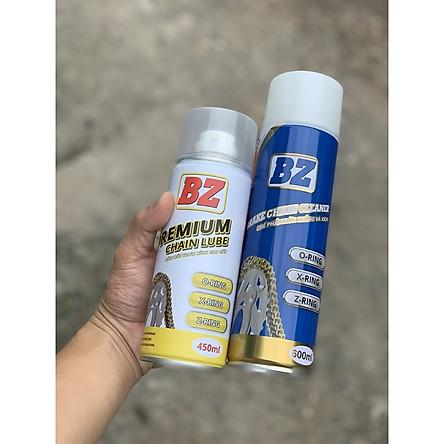Combo Xịt dưỡng sên cao cấp BZ 450ml và Xịt rửa sên BZ 600ml ( Mẫu mới )