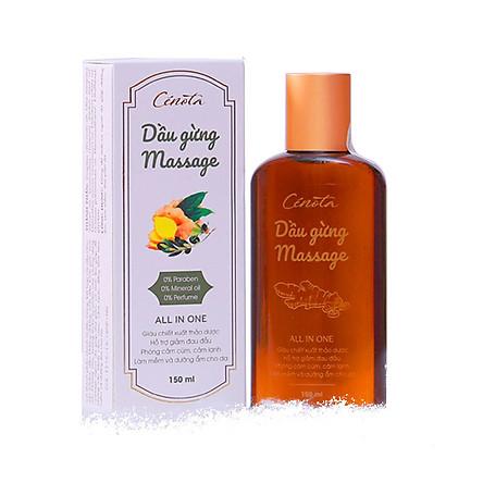 Dầu gừng Massage Cenota 150ml Giảm đau Chống Cảm