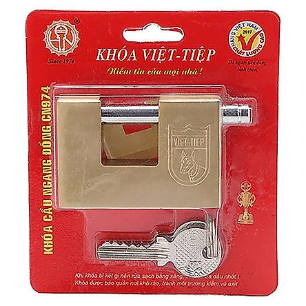 Ổ khóa cửa cầu ngang Việt Tiệp đồng vàng CN 971 / CN 974 được làm từ đồng màu vàng, có khả năng chịu lực và chịu nhiệt, đảm bảo an toàn