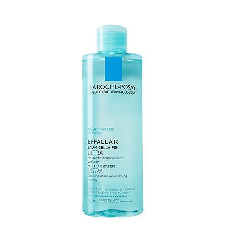 Nước Tẩy Trang Làm Sạch Sâu & Kiểm Soát Bã Nhờn Cho Da Dầu Nhạy Cảm La Roche-Posay Micellar Water Ultra Oily Skin 400ml
