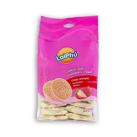 Bánh cookies Lai Phú Kem Dâu 350g