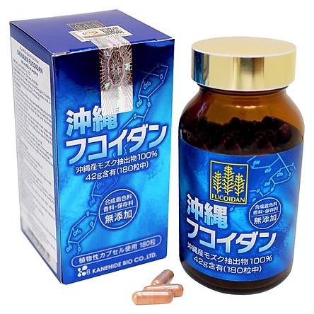 Thực Phẩm Chức Năng Okinawa Fucoidan Kanehide Bio Nhật Bản (180 Viên)