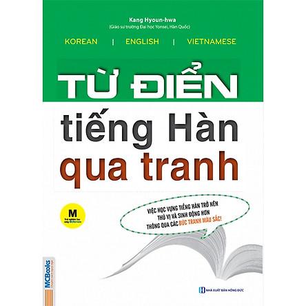 Combo Từ Điển Tiếng Hàn Qua Tranh + Luyện Nghe Tiếng Hàn Dành Cho Người Mới Bắt Đầu (Tặng kèm Kho Audio Books)