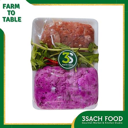 [Chỉ Giao HCM] - [RTC] Canh khoai mỡ nấu thịt băm - khay 550gr - Nguyên liệu đã được sơ chế, giúp tiết kiệm thời gian chuẩn bị bữa ăn chỉ còn một nửa