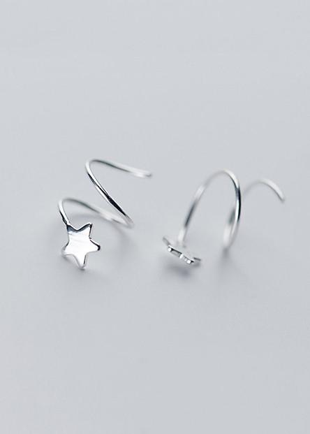Bông Tai Nữ | Bông Tai Nữ Bạc S925 Sao Băng May Mắn B2535 - Bảo Ngọc Jewelry