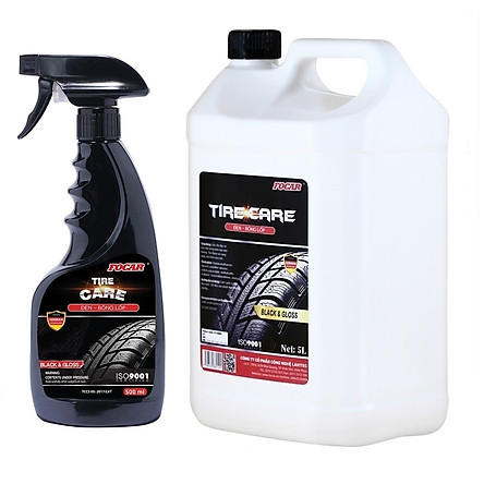 COMBO 5+1 Dung dịch dưỡng đen bóng lốp ô tô FOCAR Tire Care can 5L + bình xịt 500ml