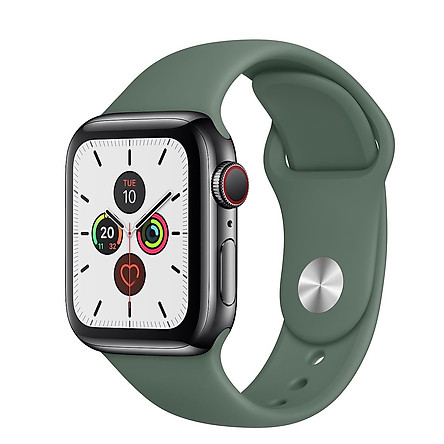 Dây đeo silicon màu Pine Green cho Apple Watch 38mm / 40mm / 42mm / 44mm