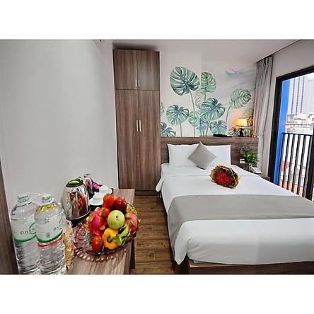 Voucher combo du lịch hạng phòng Deluxe Double 3 ngày 2 đêm tại Mega Light Hotel Nha Trang