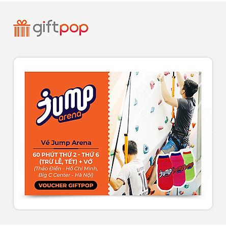 Giftpop - Vé Jump Arena 60 Phút Trong Tuần + Vớ (Áp Dụng Tại JA Thảo Điền, JA Big C)