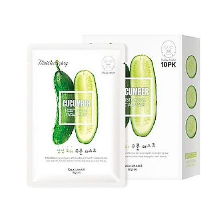 Mặt nạ dưỡng da  dưa chuột (combo 10 miếng) Hàn Quốc Welcos Kwailnara Cucumber Moisturizing Facial Mask 20ml