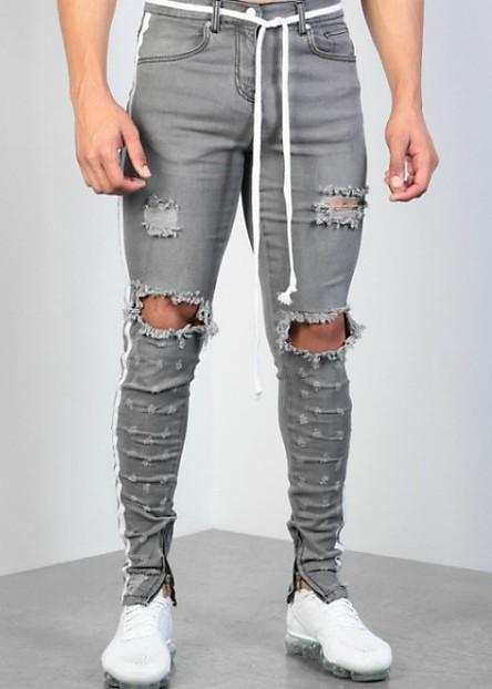 Quần jeans rách gối viền màu Mã: ND1531