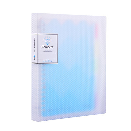 Coix A5 50 sheets of 20-hole PP loose-leaf / notepad / notebook / soft copy Compra diamond series C7105 crystal blue