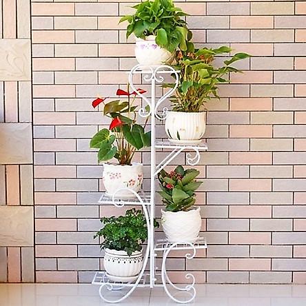 COMBO Kệ Sắt Để Chậu Hoa Cây Cảnh Trang Trí 5 Tầng + Xẻng Làm Vườn - TẶNG 100 HẠT GIỐNG HOA MƯỜI GIỜ