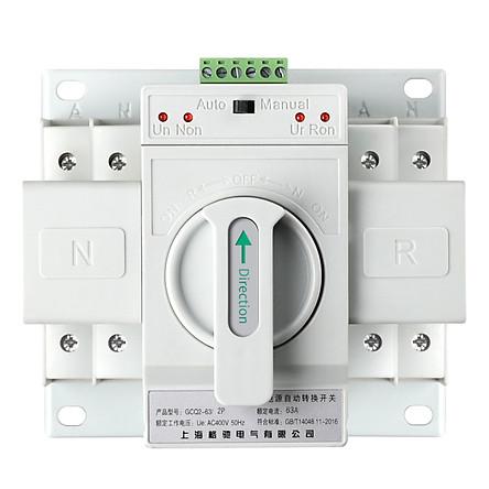 Bộ đổi nguồn điện tự động hai pha ATS 2P 63A, cầu dao đảo chiều tự động
