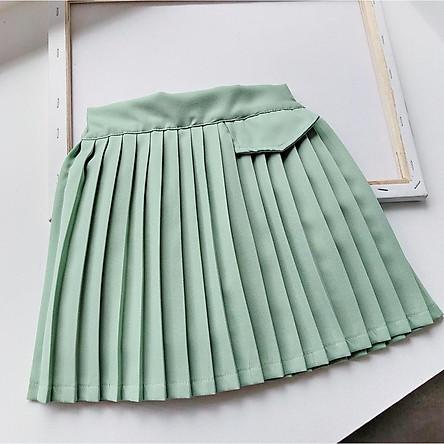 CV4Size90-130 (9-27kg)Chân Váy xếp li bé gáiThời trang trẻ Em hàng quảng châu