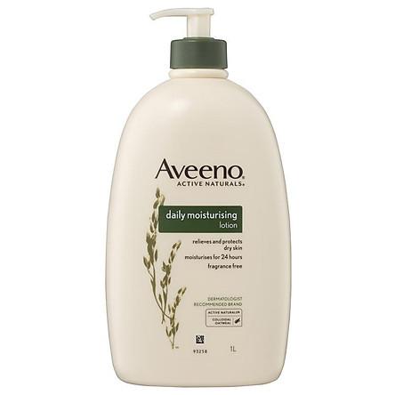 Kem dưỡng ẩm toàn thân Aveeno Active Naturals - Daily Moisturising Hàng ngày Không mùi  1L Nhập Khẩu Mỹ
