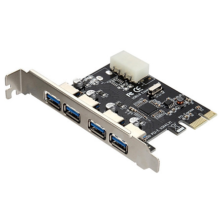 Card chuyển đổi PCI Express sang USB 3.0 4 port (Đen)