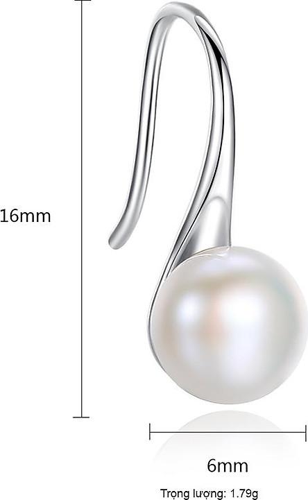Bông Tai Ngọc Trai Cao Cấp B2342 Cỡ Hạt 6x6 Ly Bảo Ngọc Jewelry