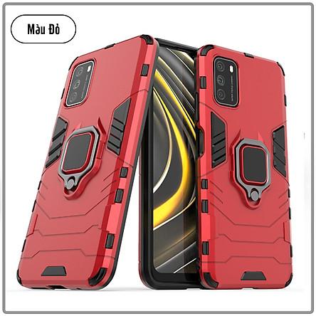 Ốp lưng cho Xiaomi Poco M3 iRON MAN IRING Nhựa PC cứng viền dẻo chống sốc