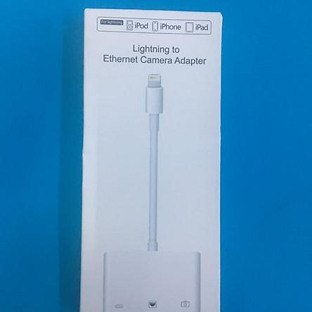 3-in-1 Lightning to Lightning + USB 3.0 + RJ45 Ethernet LAN Port OTG Adapter for iPhone iPad - Hàng nhập khẩu
